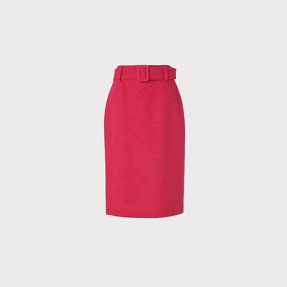 Earnest Pink Wool Blend Pencil Skirt