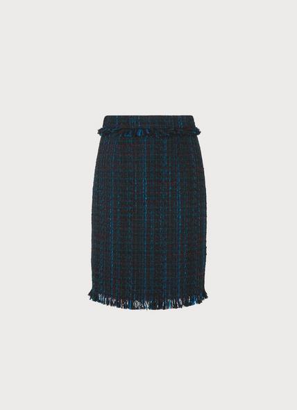 Josie Blue Tweed Skirt