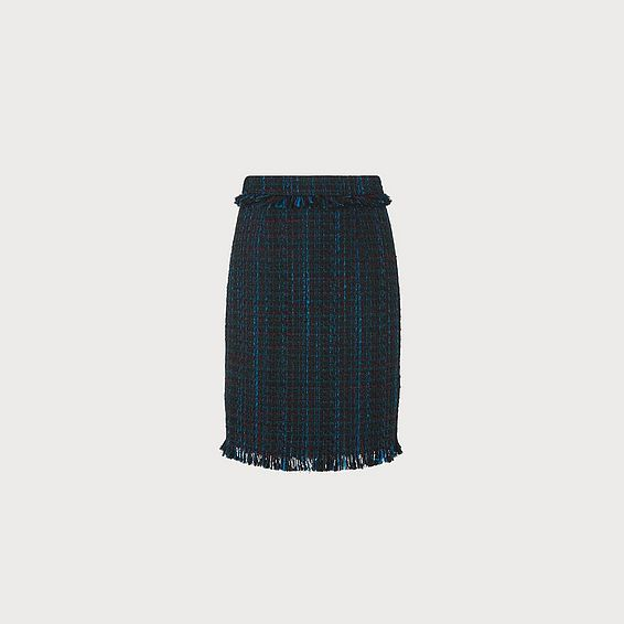 Josie Blue Tweed Skirt