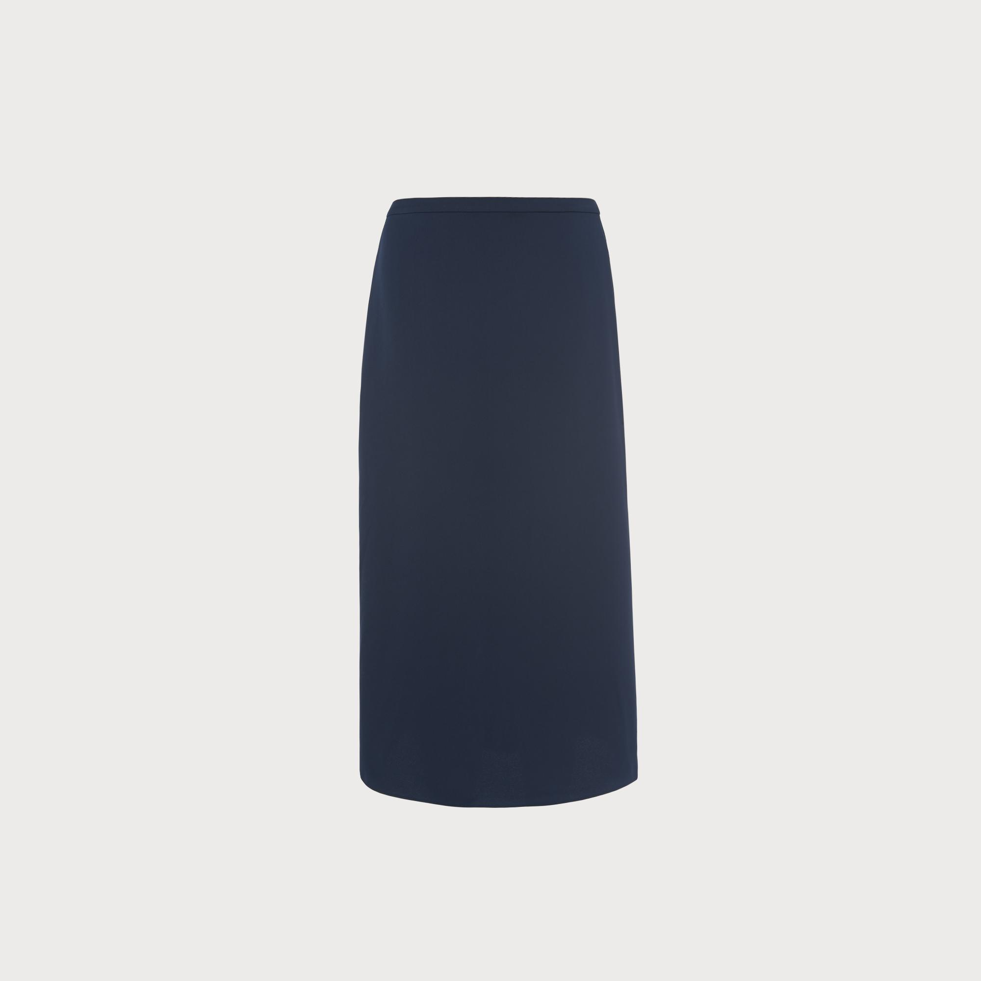 Satin Navy Slip Skirt by L.K.Bennett
