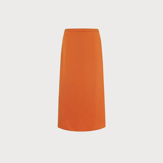 Satin Orange Slip Skirt