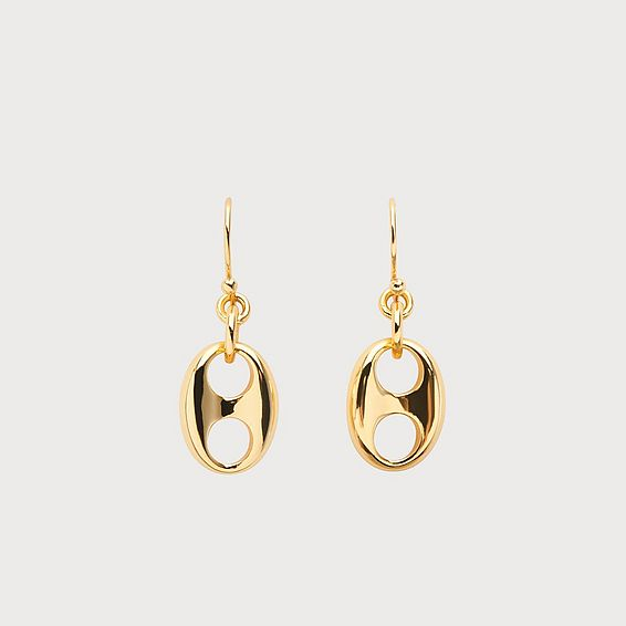 Lissy Gold-Plated Link Drop Earrings