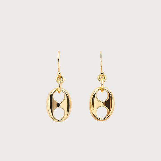 Lissy Gold Plating Link Drop Earrings
