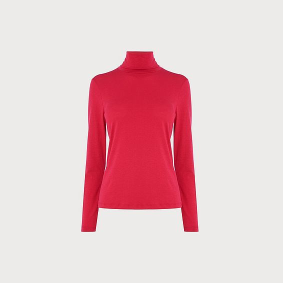 Elliot Pink Roll Neck Blouse