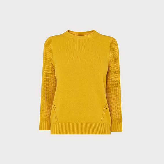 Alexia Yellow Wool Blend Jumper