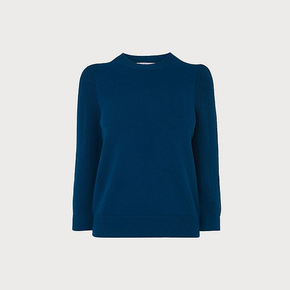 Alexia Blue Wool Blend Jumper