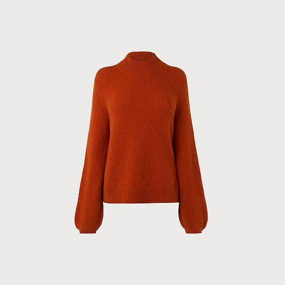 Clara Burnt Orange Wool Blend Slouchy Jumper