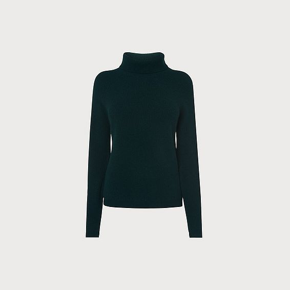 Lulumay Green Wool Cashmere Jumper