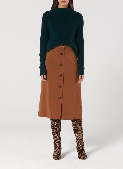 Lulumay Green Wool Cashmere Jumper