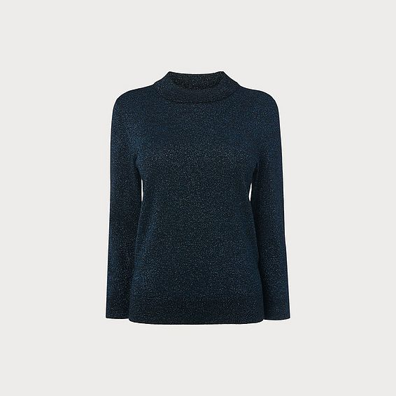 Nova Blue Wool Blend Jumper