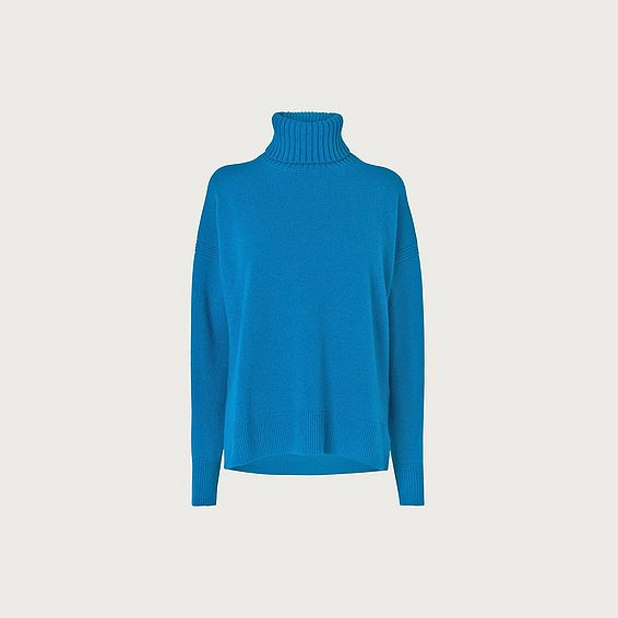 Sissi Blue Wool Cashmere Jumper