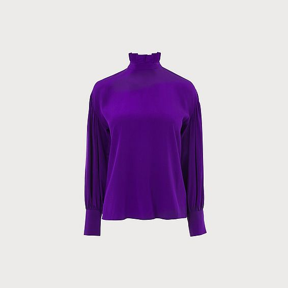 Chapelle Purple Silk Blouse