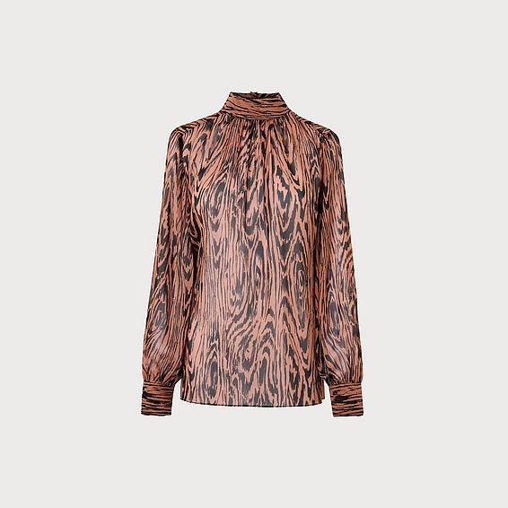 Dora Brown Silk Blouse
