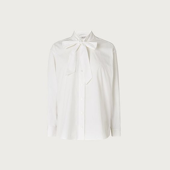 Pierre White Cotton Blouse