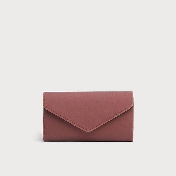 Lucia Pink Velvet Envelope Clutch