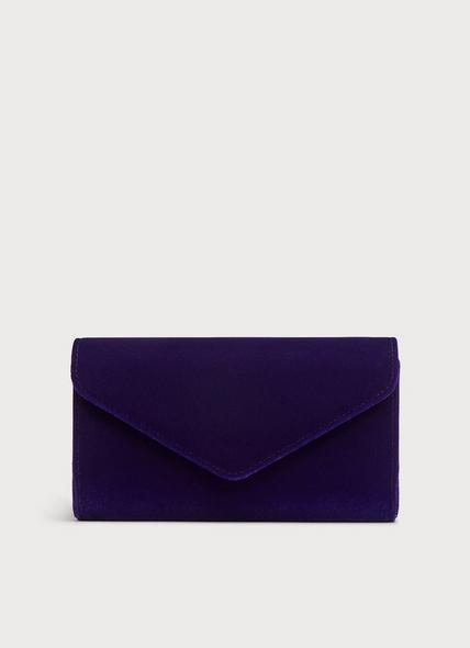 Lucia Purple Velvet Clutch