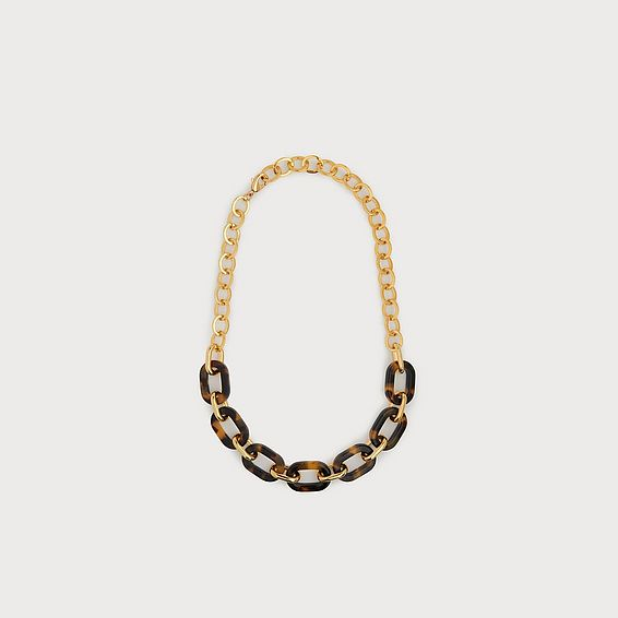 Julie Tortoiseshell Link Necklace