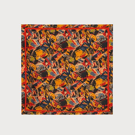 Runa Luggage Print Silk Scarf