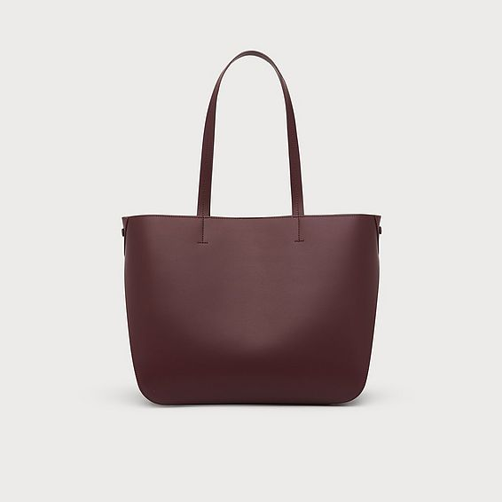 Evie Merlot Leather Tote Bag