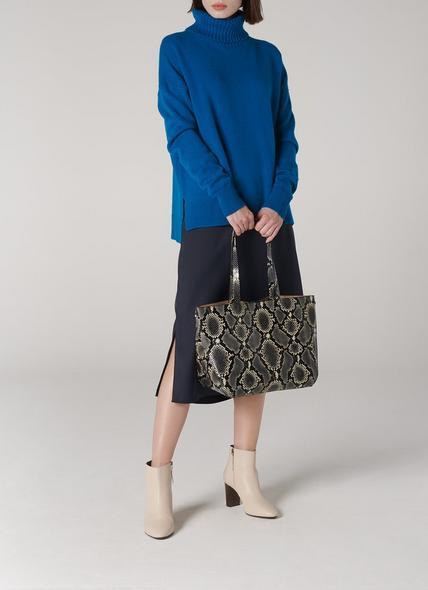 Evie Snake Print Tote Bag