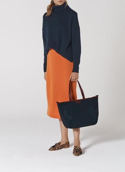 Evie Navy Tote Bag