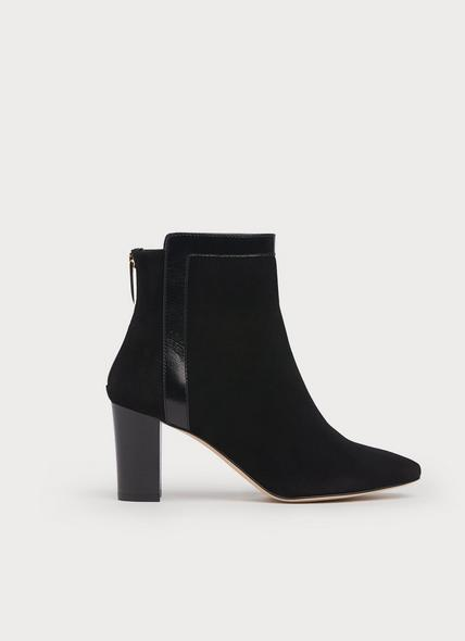 Abbey Black Suede Ankle Boots