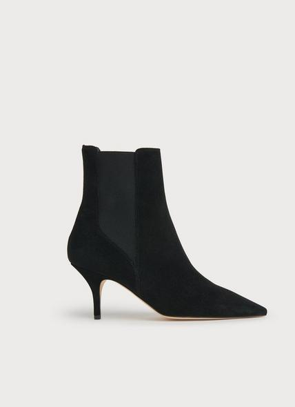 Amber Black Suede Ankle Boots