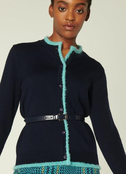 Gunders Navy Blue Patent Leather Belt