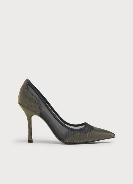 Finley Black & Gold Mesh Courts