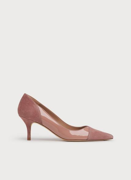 Fleur Pink Suede & Patent Courts