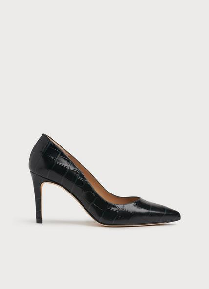 Floret Teal Croc-Effect Leather Courts