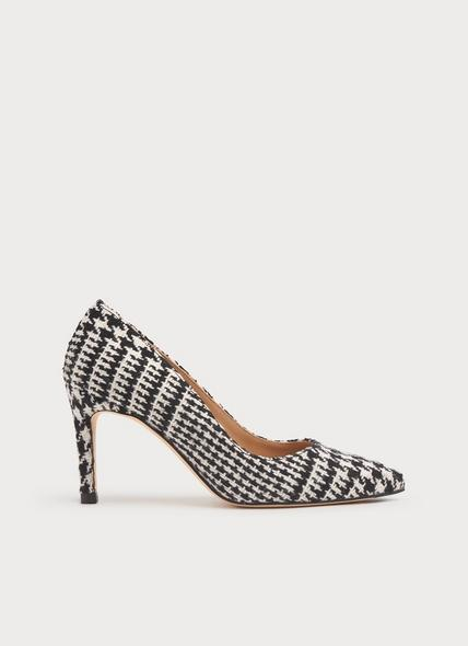 Floret Black & White Dogtooth Tweed Courts