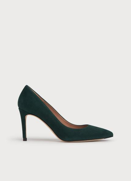 Floret Dark Green Suede Courts