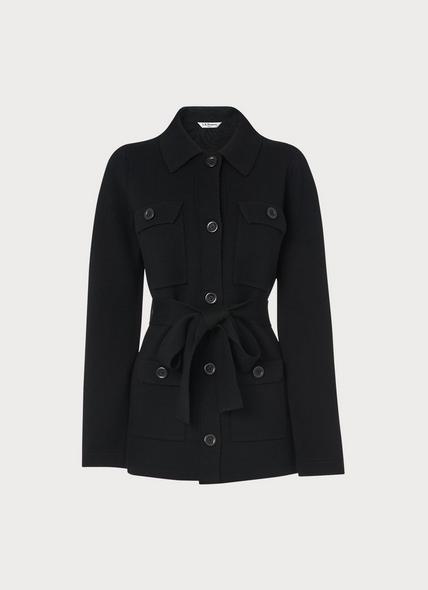 Muriel Black Knitted Jacket