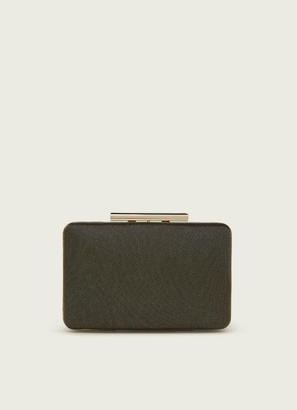 Dotty Black & Gold Mesh Box Clutch