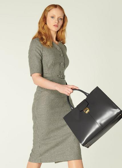 Lexie Grey Leather Work Bag