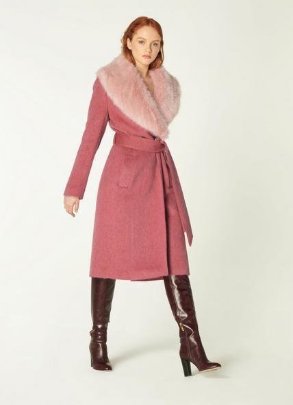 Ava Pale Pink Wool Coat