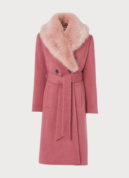Ava Pale Pink Wool Coat