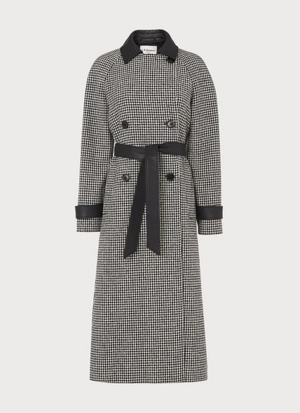 Navetta Black & White Houndstooth Coat