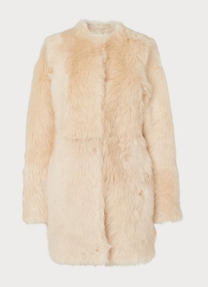 Noor Ivory Sheepskin Coat