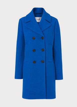Robin Electric Blue Wool Coat