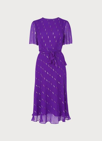 Eve Deep Purple Silk Dress
