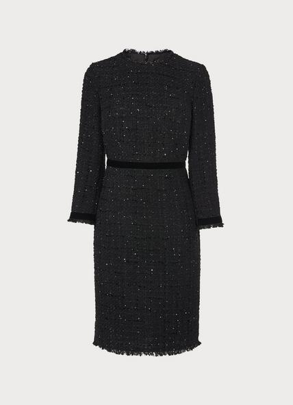 Sparkle Black Lurex Tweed Dress