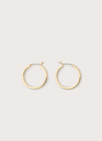 Blair Gold & Swarovski Crystal Small Hoop Earrings