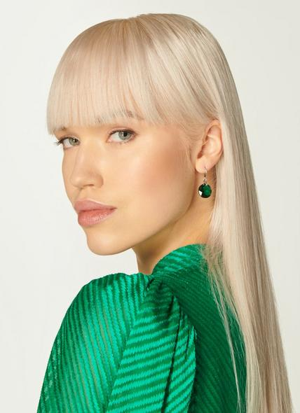 Swarovski Brookyln Emerald Gold Plating Earrings