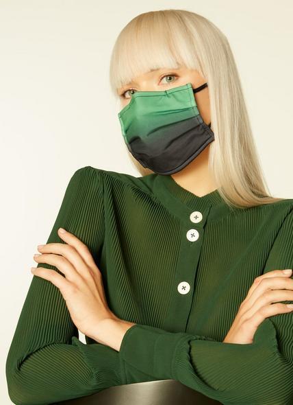 Ombré Green Graduated Face Mask