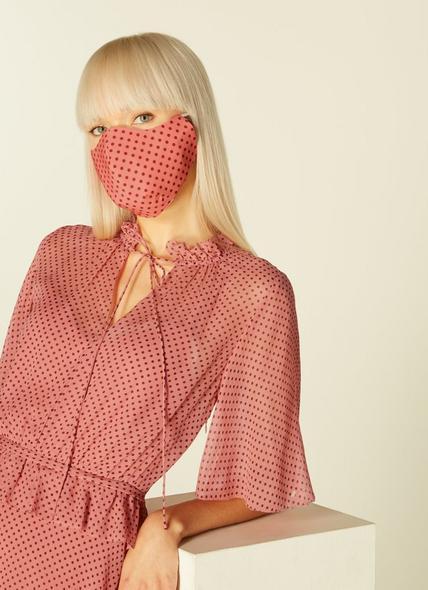 Tate Pink Spot Print Face Mask