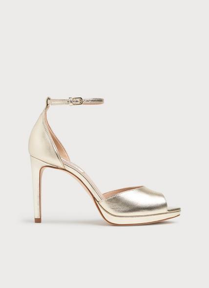 Joyce Soft Gold Metallic Leather Sandals