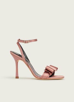 Nancy Bardon Pink Satin Sandals