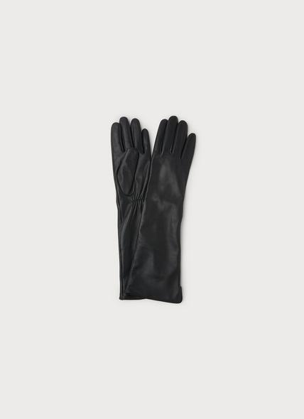 Kelly Black Smooth Leather Gloves